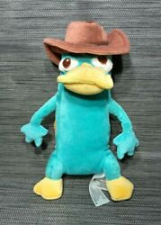 """Disney Store Phineas amp; Ferb Perry Platypus Agent Plush Toy 9"""" $18.99"""