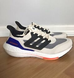 NEW Adidas Running Ultraboost 21 White Carbon Workout Shoes S23869 Mens Size 9.5 $139.95