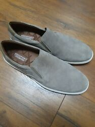 Rockport Tan Washable Suede Leather Casual Slip On Driving Loafers Mens 13M $14.99