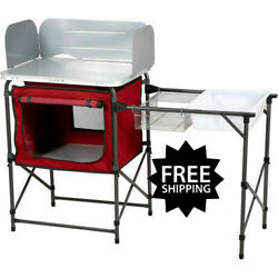 Deluxe Camp Kitchen for Fishing Camping Stove Kitchen with Storage amp; Sink Table $95.18