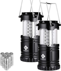 Lantern LED Camping Lanterns Battery Powered Light Outdoor Accessories 2 Pack $18.42