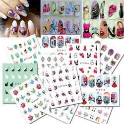 Nail Stickers Butterfly Flower Nail Art DIY Waterproof Adhesive Transfer Decals C $0.99