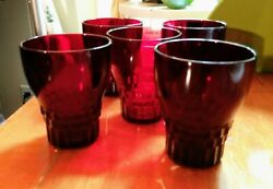 anchor hocking ruby red depression glasses 4x3 Inches $20.00