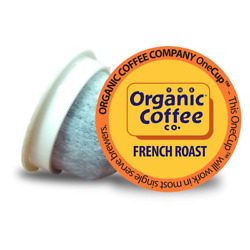 Organic Coffee Co. OneCUP French Roast 36 Ct Dark Roast Compostable Coffee Pods $29.10