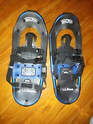 LL Bean Blue Winter Walker 22quot; Snow Shoes Lightly Used Nice $42.00