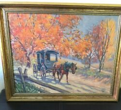 Vintage 1935 painting on board by WALTER COHN Wisconsin Artist noted by MOWA $159.00