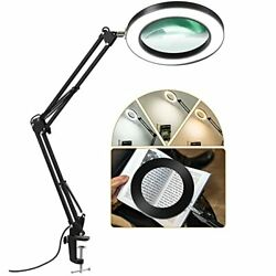 LANCOSC LED Magnifying Lamp with Clamp 1500 Lumens Stepless Dimmable 3 Color ... $62.40
