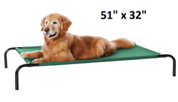 Elevated Dog Bed Extra Large Pet Cat Breathable Comfort Outdoor Durable Steel L $37.26