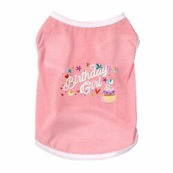 Cat amp; Dog Spring amp; Summer Breathable Thin Happy Birthday Vest Pink Pet Supplies $11.50