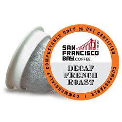 SF Bay Coffee DECAF French Roast Compostable Coffee Pods 36 Ct. Dark Roast On $28.37