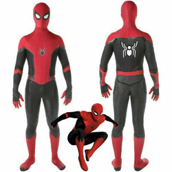 Spider Man Far From Home Kids Boys Men Jumpsuit Cosplay Costumes Party Zentail $19.97