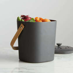 NEW Bamboozle Coleco Food Composter Indoor Compost Bin For Kitchen Graphite Gray $42.46