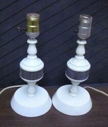 Pair of small table lamps As shown one has a tri light socket. C $27.00