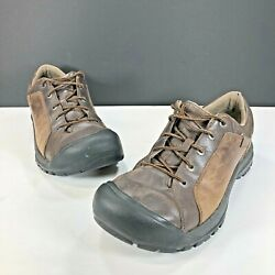 KEEN Briggs Mens Brown Leather Oxford Cascade Hiking Size 12 Shoes 1011392 $55.00