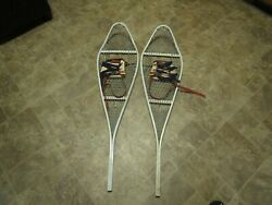 Vintage Military magnesium snow shoes with bindings 46x12 $79.99