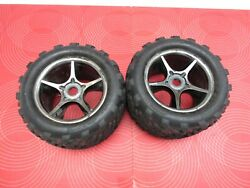 Traxxas 1 10 E Revo Brushless Tires W 3.8quot; Wheels 17mm 2 . Truck rc parts $16.99