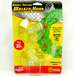 Commercial Christmas Hardware Double Suction Cup Wreath Hook