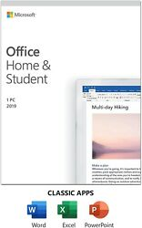 Microsoft Office Home and Student 2019 1PC 1 User Key Card $84.99