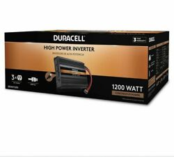 New Duracell Power 1200 W High Powered Inverter DRINV1200 $129.99