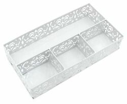EasyPAG Desk Drawer Organizer with 3 Small Bins and 1 Long BinWhite $21.09