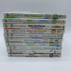 Lot of 10 Baby Einstein DVD Bundle First Sounds First Moves Beethoven Shapes $19.99