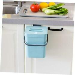 Small Compost Bin with Lid Plastic Waste Basket 5 L 1.3 Gallons 5L Blue $26.11