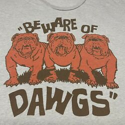 Cleveland Browns Beware Of Dawgs Gray T shirt NFL Football XL Dog Homage Soft $29.99