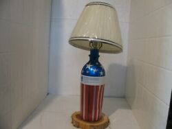 Home made Lamp out of a Red White and Blue vodka bottle $90.99