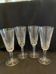 Waterford Crystal Lismore Champagne Flutes set of 4 $120.00
