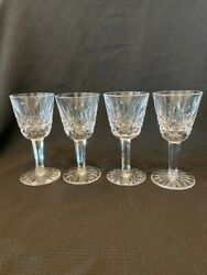 Waterford Crystal Lismore 4 Small Liqueur Cordial Glasses 3 1 2quot; $72.00