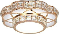 Led Flush Mount Ceiling Light Fixture Modern Contemporary Chandelier Crystal New $34.95