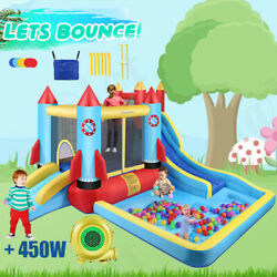 Inflatable Bouncer Water Slide Bounce House Castle Splash Pool w 450w Blower amp;amp; $335.99