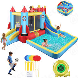 Safe Inflatable Bounce House Kids Slide Jumping Bouncer Castle w Water Pool US $335.99