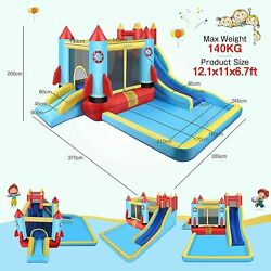 Safe Inflatable Bounce House Kids Slide Jumping Bouncer Castle w Water Pool US. $335.99