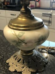 Vintage Hand painted Gone With the Wind Hurricane lamp No top $34.99