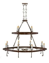 CASTILLO Chandelier Two Tier oval dark bronze finish handmade spectacular