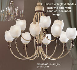 3659 IB Chandelier Cream Ivory Made In Italy Glass shades not included. $236.25