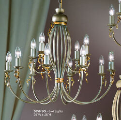3659 SG Chandelier Silver Painted Made In Italy $236.25