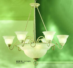 40109 IG Chandelier Cream Ivory Made In Italy $180.00