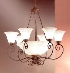 40210 BZ Chandelier Bronze Toned Made In Italy $191.25