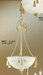 4023 I Chandelier Cream Ivory Made In Italy $60.00