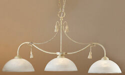 4024 I Chandelier Cream Ivory Made In Italy $75.00