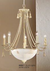 4028 I Chandelier Cream Ivory Made In Italy $180.00