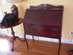 vintage desk 1 owner 100 years old mahogany $1750.00