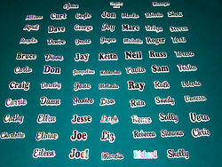 Personalized Name Magnets Refrigerator Magnets Rainbow Magnets Names R thru V  $5.99