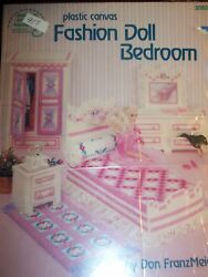 FASHION DOLL BEDROOM with LACE pattern book #917 $11.99