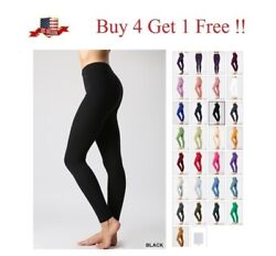 HIGH WAISTED PREMIUM Cotton STRETCH LONG WORKOUT YOGA LEGGINGS PANTS FITNESS $7.99