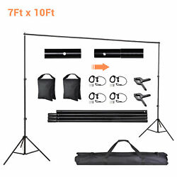 10ft Adjustable Backdrop Support Stand Photography Background Photo Crossbar Kit $40.90