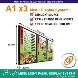 A1 x3 Swift LED MENU BOARD DISPLAY SYSTEM -ILLUMINATED MENU SIGN LIGHT BOX
