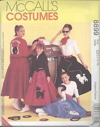 McCall#x27;s 8899 Girls#x27; Poodle Skirts Jacket Top and Scarf Sewing Pattern $6.99